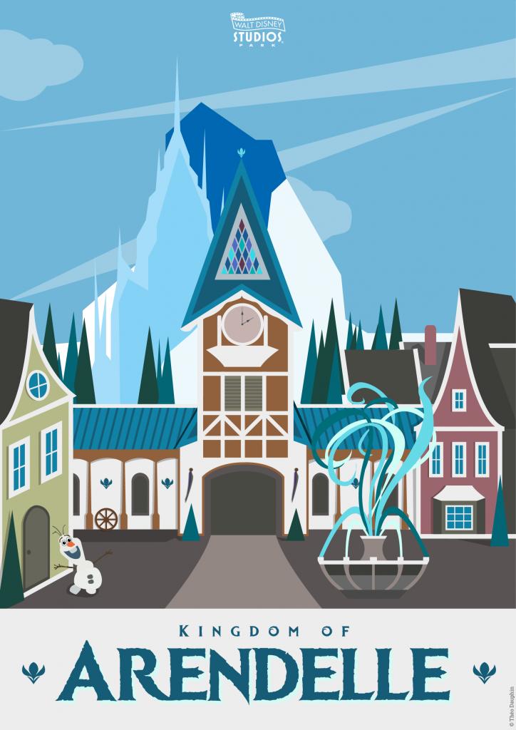 Affiches des Attractions du Parc Walt Disney Studios Kingdom_of_Arendelle_Poster_WDS-724x1024